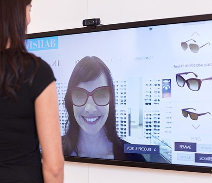 essayage virtuel lunette Optique-lunetterie : l'essayage virtuel de lunettes, le studio photo et la conception de sites web d di s l'optique : les 3 m tiers de fittingbox.